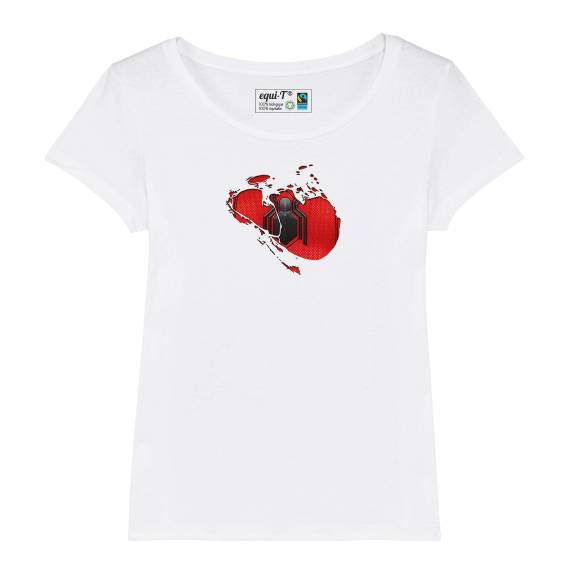 T-shirt femme original spiderman logo araignée - avengers