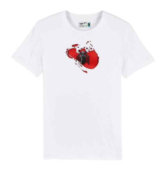 T-shirt homme original spiderman toile araignée - avengers