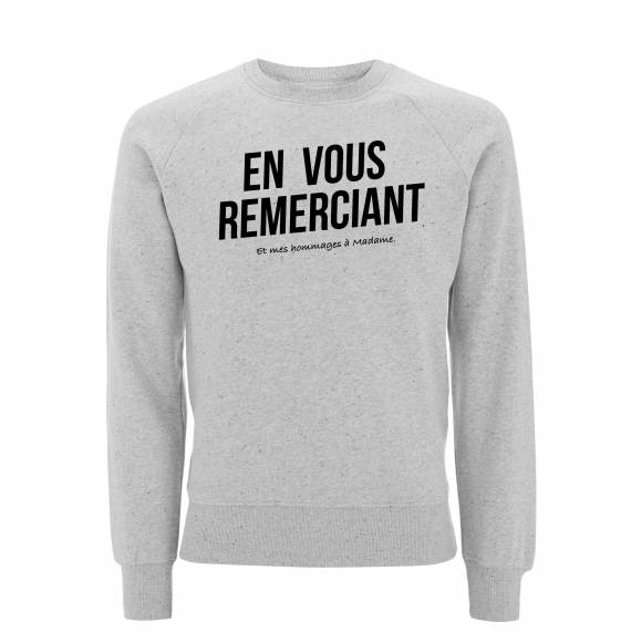sweat original en vous remerciant