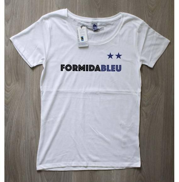 T-shirt femme Ca finit en bleu