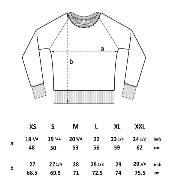 guide taille sweat